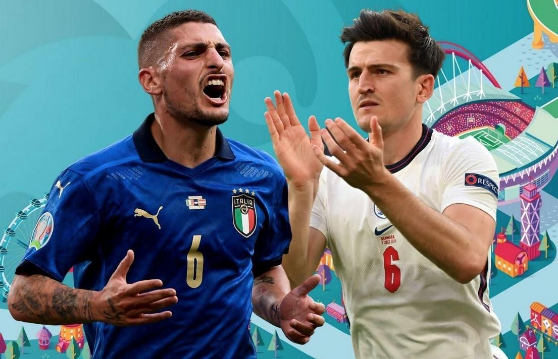 Ιταλία – Αγγλία: Ο Βεράτι βάζει την προσωπικότητα κι ο Μαγκουάιρ το κεφάλι, στην τελική μάχη του Euro 2020!